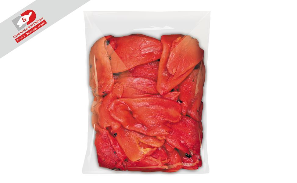 Pepper peeled roasted frozen 2.5kg