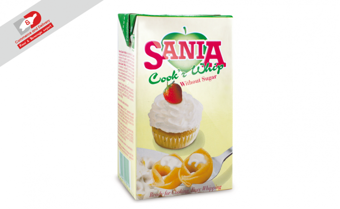 Sania sour cream universal without sugar 1kg