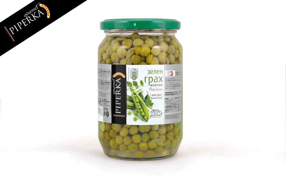 Peas green Piperka 680g