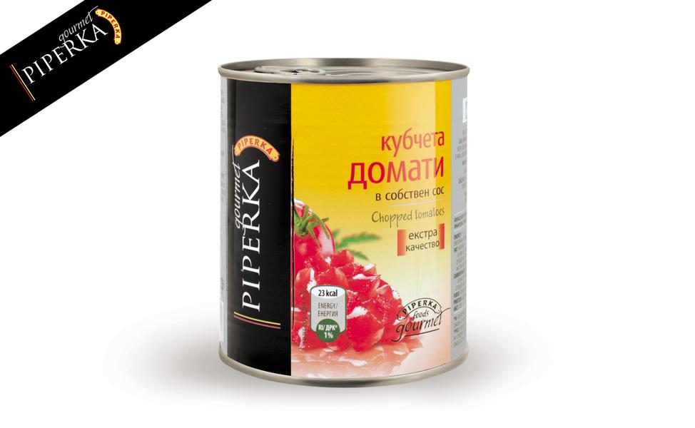 Chopped tomatoes Piperka 800g