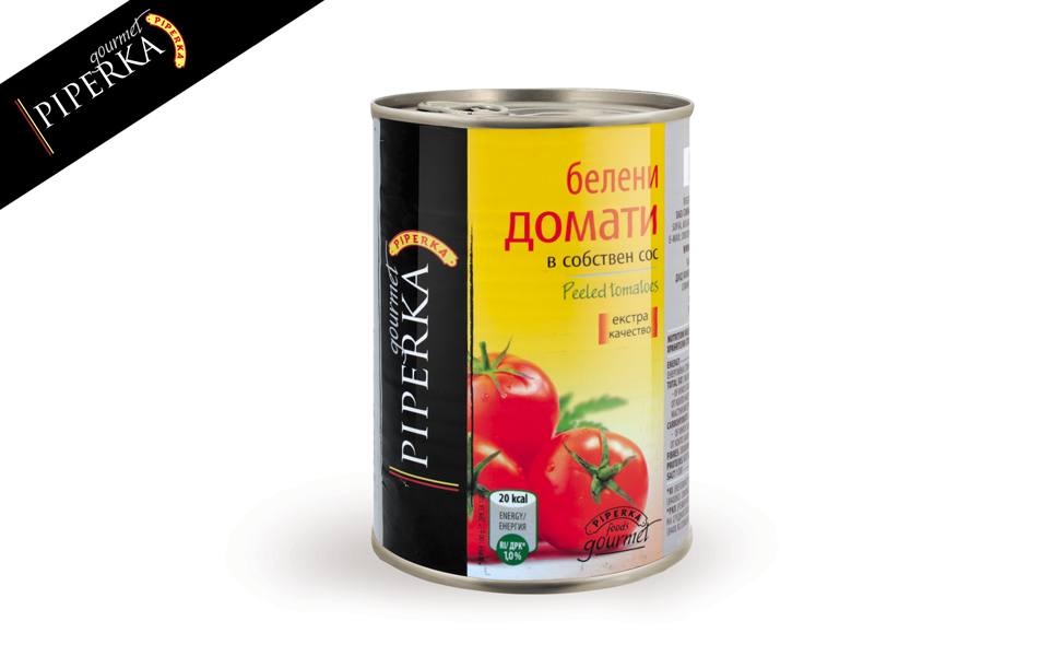Peeled tomatoes Piperka 400g