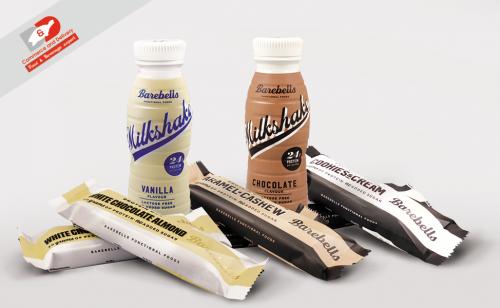 Barebells-протеинов бар и млечен шейк